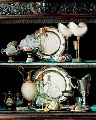 Sterling Silver Photograph - A 16th Century Buffet by Pascal Chevallier