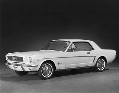 Sparkly Photograph - A 1964 Ford Mustang by Underwood Archives