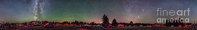 A 360 Degree Panorama With Aurora Art Print