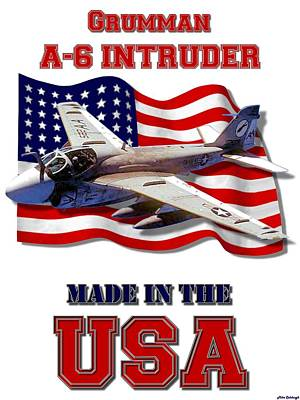Made In The Usa Digital Art - A-6 Intruder Made In The Usa by Mil Merchant