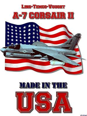 Made In The Usa Digital Art - A-7 Corsair II Made In The Usa by Mil Merchant
