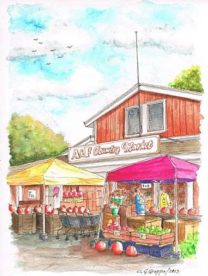 A And F Country Market In Oxnard-ca Original by Carlos G Groppa