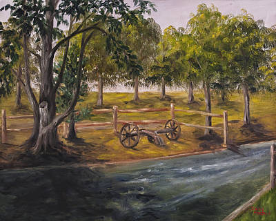 Old Tractors Painting - A And J Family Farm  by Darice Machel McGuire