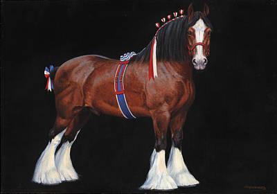 Clydesdale Champion Stallion Print by Don  Langeneckert