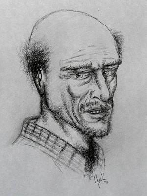 A Bald Guy Art Print by Joaquin Maldonado