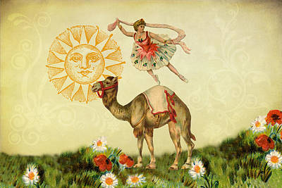 Digital Art - A Ballerina And Her Camel by Peggy Collins