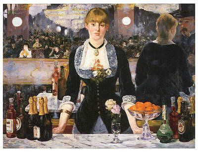 Bartender Painting - A Bar At The Folies-begere by Edouard Manet