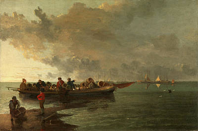 A Barge With A Wounded Soldier, John Crome Print by Litz Collection
