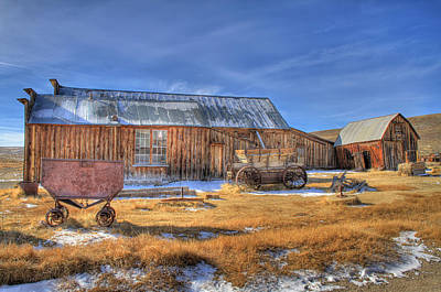 Photograph - A Barn In Bodie by Donna Kennedy