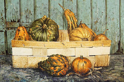 A Basket Of Gourds Original
