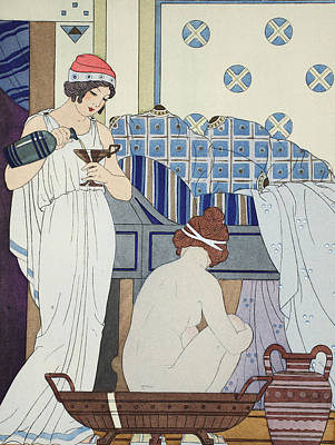 A Bath Seat Art Print by Joseph Kuhn-Regnier