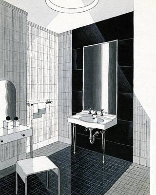A Bathroom For Kohler By Ely Jaques Kahn Art Print