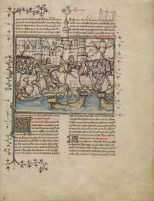 Berry Drawing - A Battle From The Trojan War First Master Of The Bible by Litz Collection