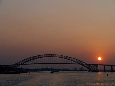 Photograph - A Bayonne Sunset by Cornelis Verwaal