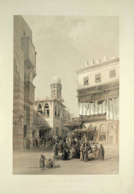Bazaar Photograph - A Bazaar by British Library