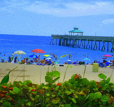 Art Print featuring the photograph A Beach Day by Artists With Autism Inc