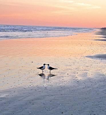 A Beach Romance Art Print