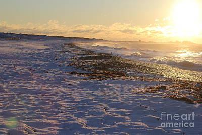 A Beachy Sunrise In The Winter Art Print