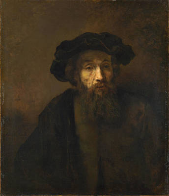 Painting - A Bearded Man In A Cap by Rembrandt