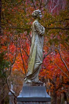 Graveyard Digital Art - A Beautiful Angel by Linda Unger