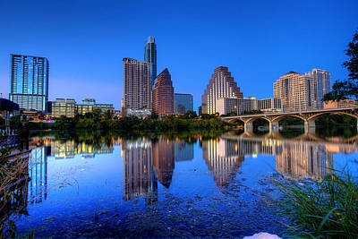 A Beautiful Austin Evening Art Print