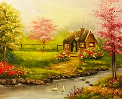Oil Painting - A Beautiful Day by Edith Hernandez Art