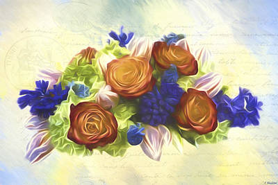 Jordan Painting - A Beautiful Life - Vintage Flower Art by Jordan Blackstone