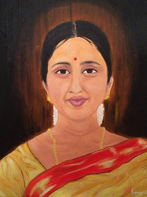 Painting - A Beautiful Person by Brindha Naveen