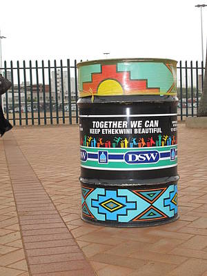 Photograph - A Beautiful Trash Can In Durban by Frank Chipasula