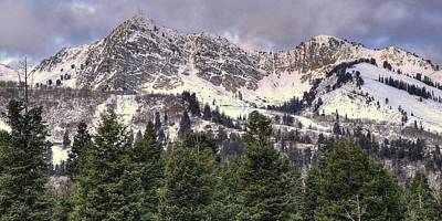Huntsville Wall Art - Photograph - A Beautiful View Of Mount Ogden From Snowbasin 2/1 Pano by Ryan Smith