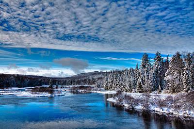 A Beautiful Winter Day At The Green Bridge Art Print by David Patterson