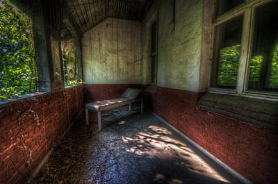 Haunted House Digital Art - A Bed Outside by Nathan Wright