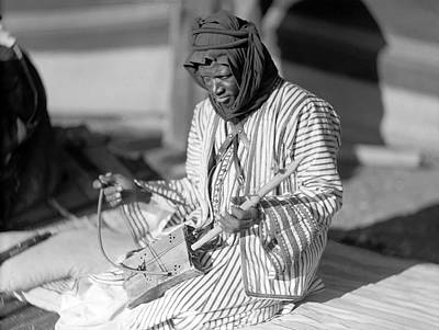 Madaba Photograph - A Bedouin Negro Minstrel by Underwood Archives