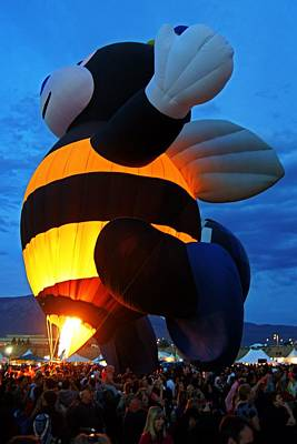 Photograph - A Bee Takes Flight At Balloon Fiesta by Daniel Woodrum