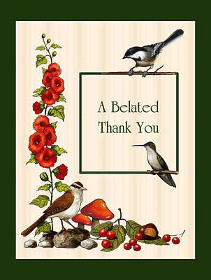 Mixed Media - A Belated Thank You by Joyce Geleynse