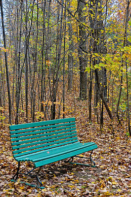 A Bench Nowhere... Art Print
