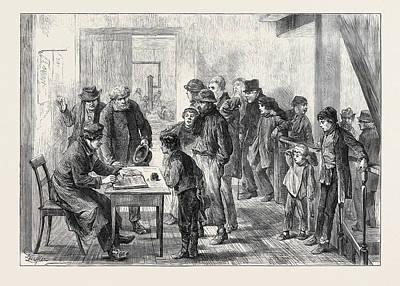 A Berlin Night Refuge Germany 1873 Art Print by German School