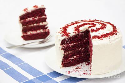 A Big Red Cake Art Print by Anne Gilbert