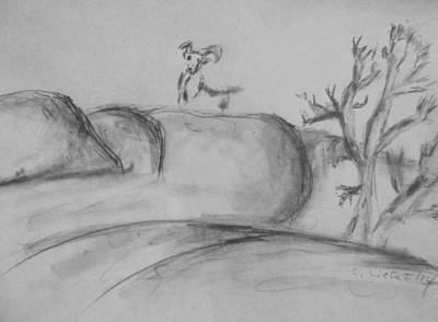 A Bighorn And A Drawing II Art Print by Carolina Liechtenstein