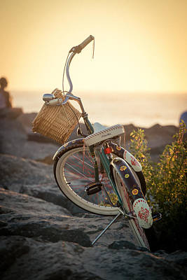 California Coast Photograph - A Bike And Chi by Peter Tellone