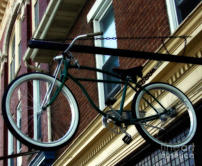 Bicycling Photograph - A Bike Hanging  by Steven Digman