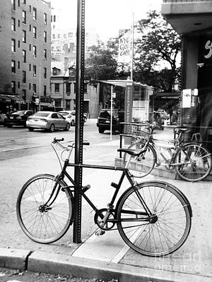 Photograph - A Bike In Nyc by Robin Coaker