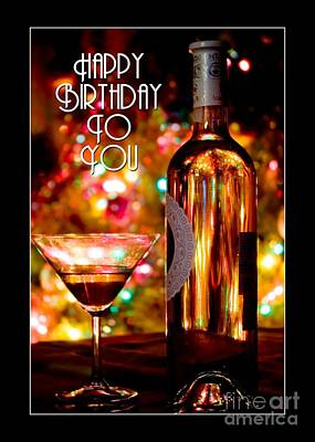 Digital Art - A Birthday Drink by JH Designs