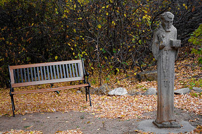 Photograph - A Bishop And A Bench by Robert Meyers-Lussier