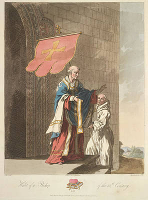 Clergy Photograph - A Bishop And Monk by British Library