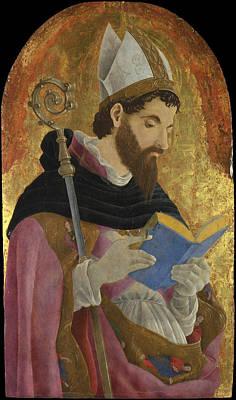 Perhaps Painting - A Bishop Saint Perhaps Saint Augustine by Marco Zoppo