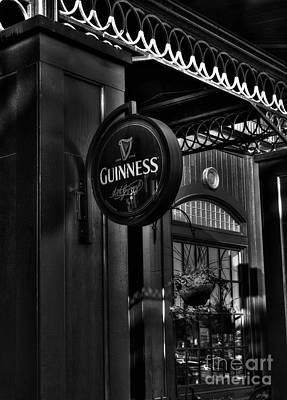Photograph - A Black And White Pub by Mel Steinhauer