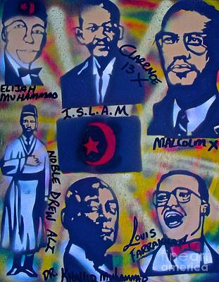 Liberal Painting - A Black Nation Of Islam by Tony B Conscious