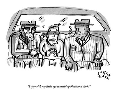 A Blindfolded Man In The Backseat Of A Car Art Print