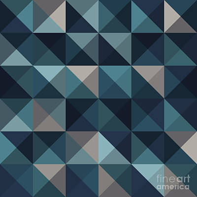 Digital Art - A Blue Abstract Vector Pattern by Mike Taylor